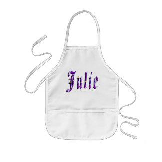 Julie, Name, Logo, Mädchen künstlerische Kindy Kinderschürze