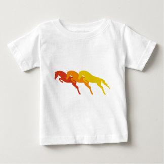 jumping horses baby t-shirt