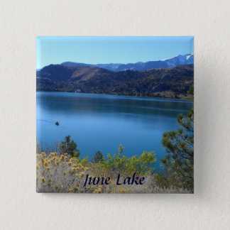 June See, Kalifornien Quadratischer Button 5,1 Cm