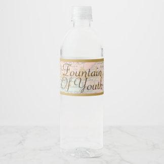 Jungbrunnen Welts-Wasser-Flaschen-Aufkleber-Mann Wasserflaschenetikett