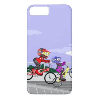 JUNGE BMX Radsport konkurriert durch das sehr iPhone 8 Plus/7 Plus Hülle