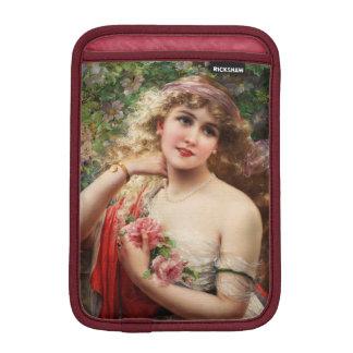 Junge Dame mit Rosen durch Emile Vernon iPad Mini Sleeve
