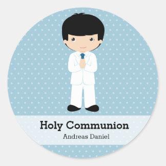 Junge der heiligen Kommunion * wählen Sie Ihre Runde Sticker