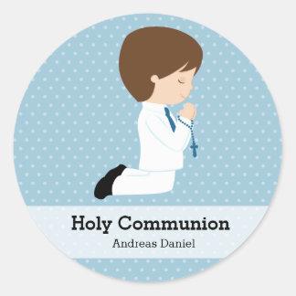 Junge der heiligen Kommunion * wählen Sie Ihre Runder Sticker