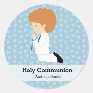 Junge der heiligen Kommunion * wählen Sie Ihre Runder Aufkleber