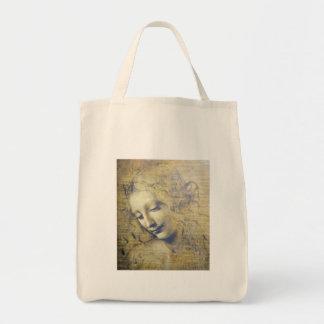junge Frau 2 Einkaufstasche