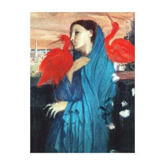 Junge Frau Edgar Degass mit IBIS Leinwanddruck