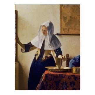 Junge Frau mit einem Wasser-Krug, c.1662 Postkarte