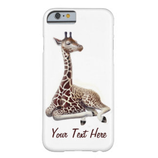 Junge Giraffe an Erholung iPhone 6 Fall Barely There iPhone 6 Hülle