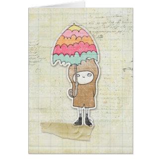 Junge im Regen Karte
