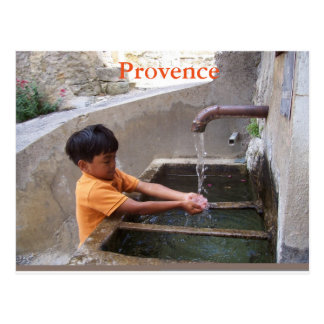 Junge in Provence-Postkarte Postkarte