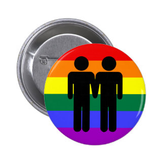 Junge + Jungen-Regenbogen-Knopf Runder Button 5,7 Cm