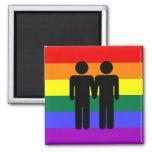 Junge + Jungen-Regenbogen-Magnet Magnete