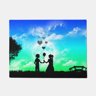 Junge Liebe-Grafik Fußmatte Türmatte