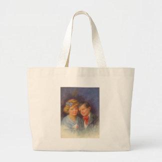 Junge Liebe, Vintages Mädchen u. Jungevalentine-Po Taschen