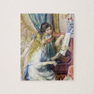 Junge Mädchen am Klavier durch Pierre Renoir Puzzle