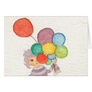 Junge mit Ballonen Karte