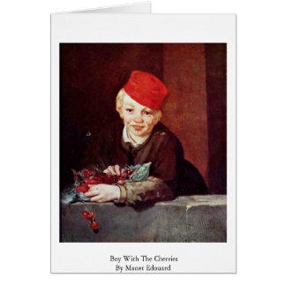 Junge mit den Kirschen durch Manet Edouard Karte