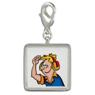 Junge mit Kopfhörer Charm