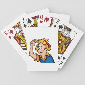 Junge mit Kopfhörer Spielkarten