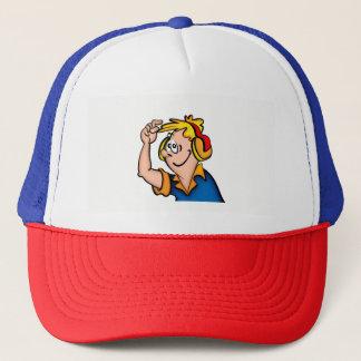 Junge mit Kopfhörer Truckerkappe