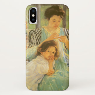 Junge Mutter, die durch Mary Cassatt, Vintage iPhone X Hülle