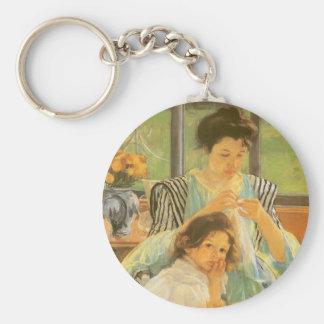 Junge Mutter, die durch Mary Cassatt, Vintage Schlüsselanhänger