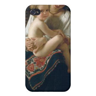 Junge Mutter, die ihr Kind - Bouguereau anstarrt iPhone 4 Schutzhülle