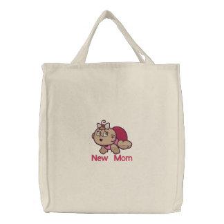 Junge Mutter - Mädchen Bestickte Tasche
