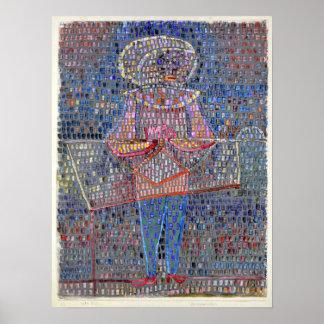 Junge Pauls Klee im extravaganten Kleid Poster