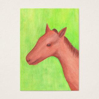 Junge Pferdekünstler-Trading Card Visitenkarte