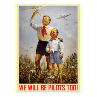 Junge Piloten Postkarte