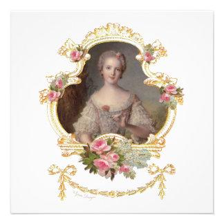 Junge Prinzessin Louise Marie von Einladungskarten