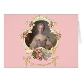 Junge Prinzessin Louise Marie von Frankreich-Karte