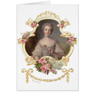 Junge rosa Rosen-Karten der Königin-Marie Antoinet