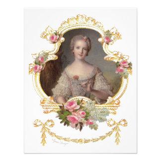 Junge rosa Rosen-Karten der Königin-Marie Individuelle Ankündigungen