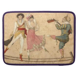 Junge tanzende und singende Leute, Vintages Sleeve Für MacBooks