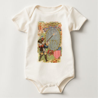 Junge US-Flaggen-Feuerwerke Juli 4. Baby Strampler
