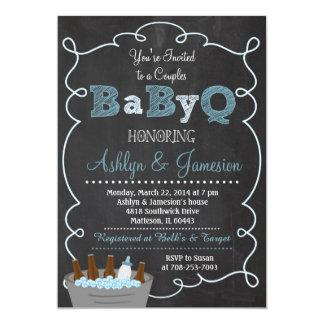 Junge verbindet BabyQ GRILLEN 12,7 X 17,8 Cm Einladungskarte
