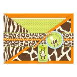 Jungen-Affe-Dschungel-Safari-Babyparty Einladungskarte