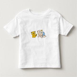 Jungen-Baby und Katze T-Shirts