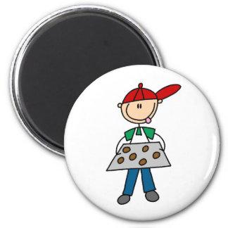 Jungen-Backen-Plätzchen-Magnet Kühlschrankmagnet