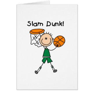 Jungen-Basketball-Slam Dunk Karte