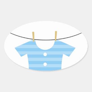 Kinderkleidung auf wäscheleine  Baby Wäscheleine Aufkleber | Zazzle.de