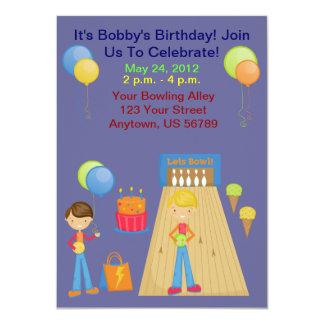 Jungen-Bowlings-Geburtstags-Party Einladungen
