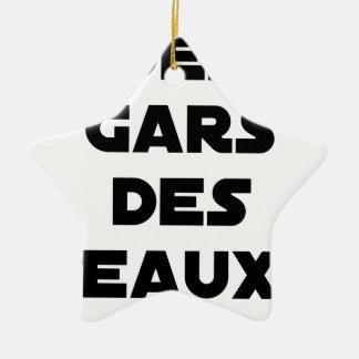 Jungen der Gewässer - Wortspiele - Francois Ville Keramik Stern-Ornament