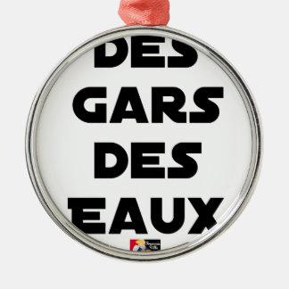 Jungen der Gewässer - Wortspiele - Francois Ville Silbernes Ornament