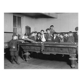 Jungen, die Pool, 1909 schießen Postkarte