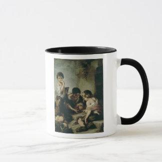 Jungen, die Würfel, c.1670-75 spielen Tasse