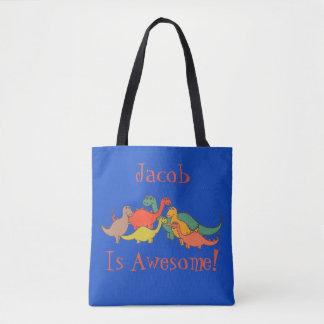 Jungen-Dino-Dinosaurier-Dekor bunte T-Rex Eidechse Tasche